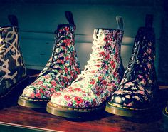 Still life photo Doc Martin Boots Flowers by Squint photography #docs #photography #etsy