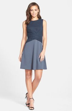 B44 Dressed by Bailey 44 Mixed Media Sleeveless Fit & Flare Dress | Nordstrom