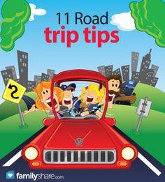 11 road trip tips!  FamilyShare.com  #roadtrip #vacation