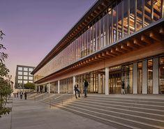 Downtown Long Beach, Main Library, Library Plan, Timber Buildings, Billie Jean King, Master Plan, Art Design, 2020 Design, Urban Design