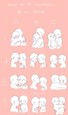 How to draw a hug and embrace