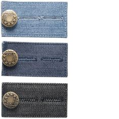 "Is your favorite pair of jeans fitting just a bit too snug lately?  Or maybe a few pairs are just a bit tighter than you'd like?  This 3-pack of our ""Comfy Jeans"" denim waist extenders is the perfect quick fix for you! Just put the button on your jeans through one of the loops on our the extender, and then put the button from the extender through your jeans loop. Get comfy! Get your Pants Extenders from Comfy Clothiers today! http://www.comfyclothiers.com/products/comfy-buttons-for-jeans"