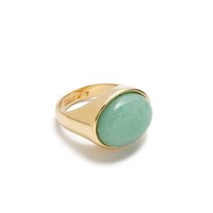 J.Crew women's jade stone ring.