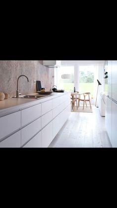 Vitt, betong, kök