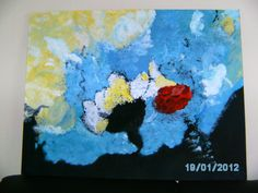 acryl painting abstract 90x70 te koop  95€