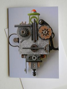 Recycled Art Assemblage Ooh La La Bug by redhardwick on Etsy