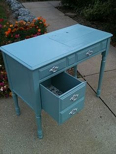 Idea for my desk.  I have my great aunt's sewing desk which will some day look awesome in my craft room.