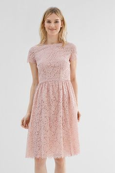 Esprit / Layered lace dress in a midi length