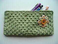 crochet pencil case by cornflowerbluestudio, via Flickr