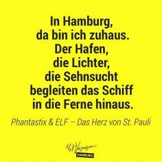 In Hamburg da bin ich zuhaus. Der Hafen, die Lichter... Mit Vergnügen Hamburg   das Herz von St. Pauli