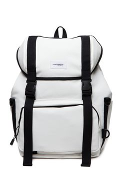 HARDERBRUSH | HARDERBRUSH Line Union BackPack in White | Shop White Backpacks at EGO CLOSET | Gastown Boutique, Vancouver