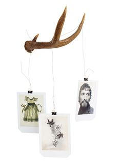 """Modern Mobile featuring """"shed"""" Deer Antlers"""