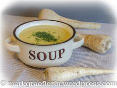 Suppe mit Pastinaken, Kartoffeln, Möhren
