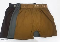 Trunks Trendy Men's Cotton Solid Trunks(Pack Of 3) Fabric: Cotton Waist Size: S - 80  M - 85 cm L - 90 cm XL - 95 cm XXL - 100 cm Length: Up To 8 in To 10 in Type: Stitched Description: It Has 3 Pieces Of Men's Trunks Pattern: Solid Country of Origin: India Sizes Available: S, M, L, XL, XXL   Catalog Rating: ★4 (498)  Catalog Name: Trendy Men's Cotton Solid Trunks Vol 13 CatalogID_805912 C68-SC1216 Code: 982-5409521-