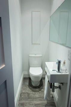 Space Saving Toilet Design for Small Bathroom - polat kos Condo Bathroom, Tiny Bathrooms, Bathroom Ideas, Bathroom Remodeling, Remodeling Ideas, Master Bathroom, Small Basement Bathroom, Bathroom Green, Bathroom Fixtures