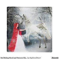 Red Riding Hood and Unicorn Glass Coaster Girl Background, Background Pictures, Celtic Fantasy Art, Listening English, Learning English, Unicorn Glass, Snake Art, Classic Fairy Tales, Fantasy Story