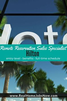 If you want to work from home full-time with benefits, equipment provided, and travel perks, you can be a Hilton Reservation Sales Specialist!