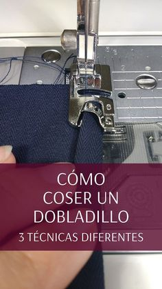 How to sew a perfect hem- Cómo coser un dobladillo perfecto The hem is one of the most basic and common ways to finish the hem of a garment. In this post I will show you 3 techniques to sew a hem on a flat weave - Sewing Hacks, Sewing Tutorials, Sewing Projects, Quilt As You Go, Fabric Bags, Love Sewing, Sewing Techniques, Piece Of Clothing, Diy Fashion