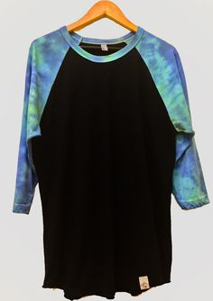 American Apparel Tie Dye Baseball Tee by TyreDyes on Etsy