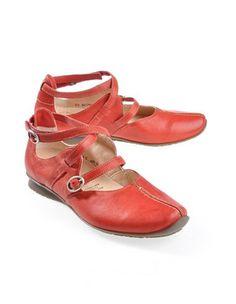 Think 'Leonida', kirsch - Strap Shoes - Deerberg