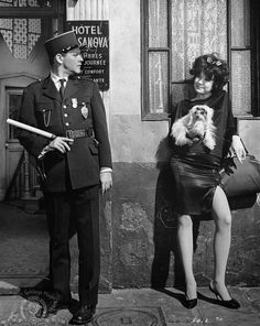 Jack Lemmon and Shirley MacLaine in Irma la Douce [1963] / I saw a usually rowdy cantina be silent, captivated by this classic film; watched it through to the end.