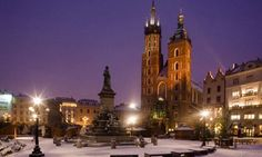 St Mary's Basilica, in the main square in Krakow. The Places Youll Go, Places Ive Been, Places To Go, Krakow Christmas Market, Poland Country, Visit Poland, Travel Sights, Poland Travel, Krakow Poland