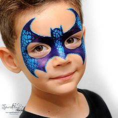 Superhero Face Painting, Face Painting For Boys, Face Painting Designs, Body Painting, Halloween Makeup For Kids, Kids Makeup, Circus Crafts, Skin Paint, Boy Face
