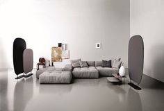 Modular upholstered sofa NEW PIXEL by Saba Italia   design Sergio Bicego