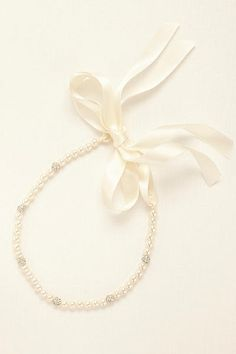 Pearl Headband with Crystal Rondelle Beads KH1436