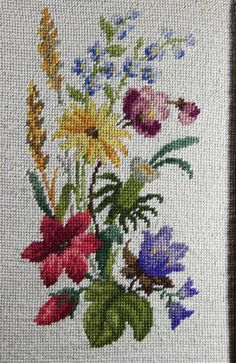 Needlepoint Floral - Framed