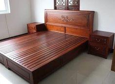 recama matrimonial lujosa de pino muebles lluminat Bedroom Furniture Design, Wooden Bedroom Furniture, Wooden Bed Design, Home Room Design, Simple Bed, Bedroom Bed Design, Bed Design Modern, Wooden Sofa Designs, Bed Furniture
