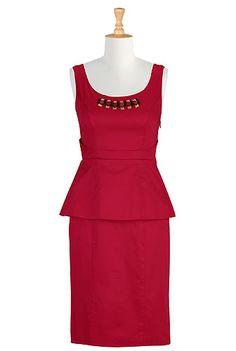 Little red peplum dress  STYLE # CL0024014  $69.95   CLLLLLASSY! <3