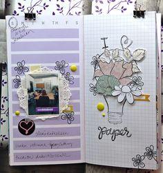 jehkotar: Traveler´s Notebook Spread: Fussycutting Travelers Notebook, Ferret, Atc, Layouts, Studios, Ferrets, European Polecat