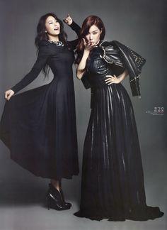 SNSD Tiffany and Sistar Bora - Harper's Bazaar Magazine January Issue '14