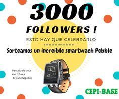Sorteo CEPIBASE smartwatch Pebble