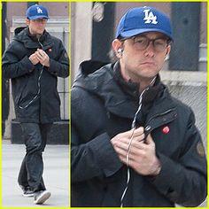 Joseph Gordon-Levitt dons a Los Angeles Dodgers baseball cap while taking a solo stroll in New York City.
