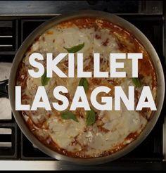 """Easy skillet """"lasagna"""" https://www.tastemade.com/videos/skillet-lasagna"""