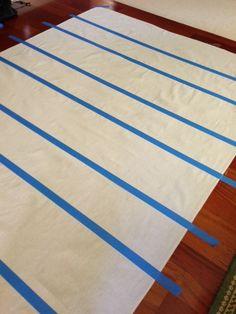 A Painted Floor Cloth :: Hometalk - porch / patio curtains