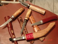 My wood carving knives and my crooked knife