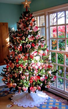 my red and white tree
