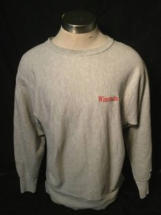 Vintage 1990's Wisconsin Badgers Sweatshirt T-Shirt Champion Reverse Weave by 413productions on Etsy