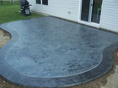 blue stained concrete patio.  Stained Stained Concrete Patios  Bing Images  Patio Pinterest Stained  Patios And Concrete Throughout Blue Q