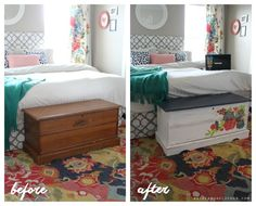 Cedar chest redo and how to use chalky paint for the first time!