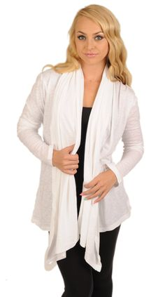 """Hot Mama Ink """"One Lucky Mother"""" Long Sleeve Yoga Throw Over, White (Medium). 100% Cotton Burnout. Super comfy to wear. Looks great dressed up or casual over yoga clothes. graphic has soft vintage feel. Machine washable."""