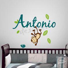 Custom Girl Boy Children Wall Decal Sticker por DesignedDesigner, $55.00