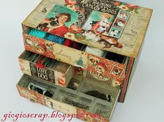 How to make a minidrawer unit out of cereal boxes and wonderful patterned papers