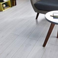 Sol stratifié Prestige Acoustic décor blanc, L 138 x l 15.7 cm