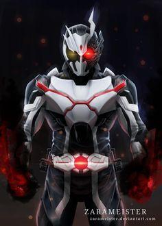 Fantasy Character Design, Character Art, Dark Warrior, Futuristic Armour, First Art, Geek Culture, Kamen Rider, Power Rangers, Zero One