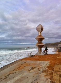 A little town in Gipuzkoa called Zarautz is known for it's surfers. Here's a view of the boardwalk in Zarautz. Only a 15 minute car ride from San Sebastian. Stay with us at Far Out Inn and take a short day trip to Zarautz to check out the waves. Book your stay through http://faroutinn.com.