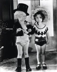 Baby Leroy and Shirley Temple 1930's